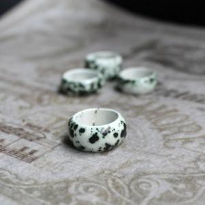 Фото Кольцо керамика ручной работы