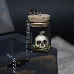 Фото Кулон-баночка череп с улиткой