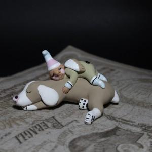 Фото Фигурка собака и гном