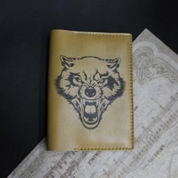 Фото Обложка на паспорт Волк оскал