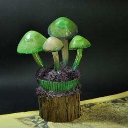 Фото Светящиеся грибы на пеньке