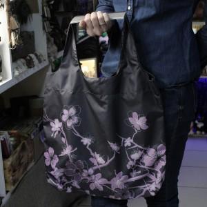 Фото Сумка шоппер Сакура фиолетовая