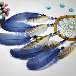 Фото Ловец снов с перьями совы Гор