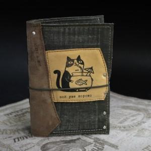 Фото котык с аквариумом блокнот