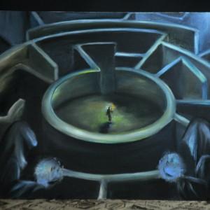 Фото Картина Лабиринт на хлопковом холсте, масло