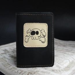 Фото Чёрная обложка на паспорт Черепок и кости