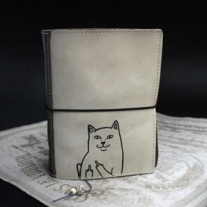 Фото кот с факами блокнот
