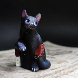 Фото Фигурка Чёрный котик