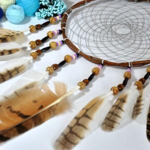 Фото Большой ловец снов с перьями совы