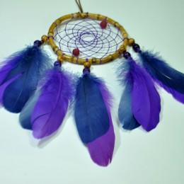 Фото Красивый ловец снов с фиолетовыми перьями