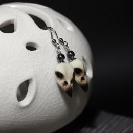 Фото Серьги с  черепами вороны