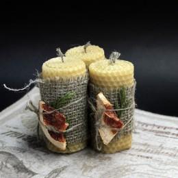 Фото Ароматные миниатюрные свечи из натурального пчелиного воска