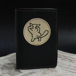 Фото Чёрная обложка на паспорт Кот Секси