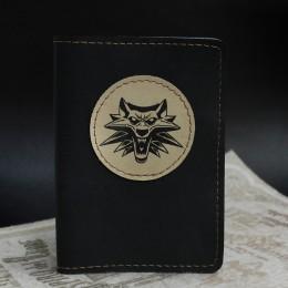 Фото Чёрная обложка на паспорт Ведьмак школа Волка