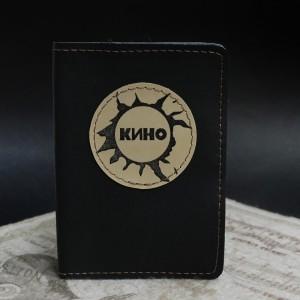 Фото Чёрная обложка на паспорт Кино Цой