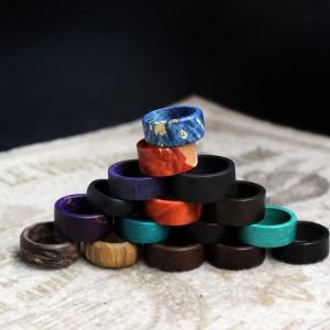 Фото Кольцо деревянное ручной работы