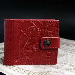 Фото Кошелёк красный кожаный