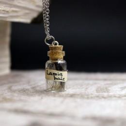 Фото Кулон бутылочка Волосы ламии