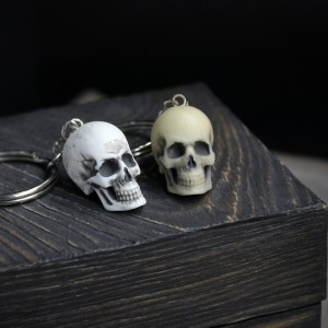 Фото череп маленькая модель брелок для ключей