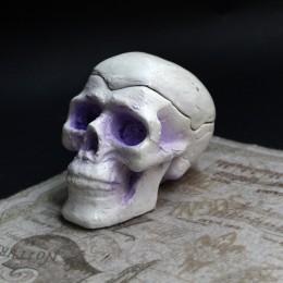 Фото Шкатулка череп фиолетовые глазницы