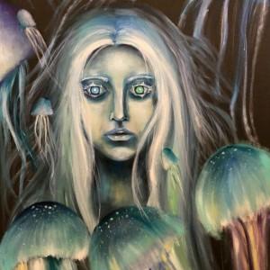 Фото Русалка среди медуз картина хост масло