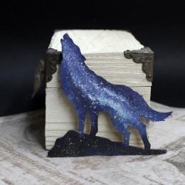 Фото Магнит Воющий на луну волк