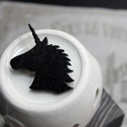 Фото Брошка чёрная Единорог