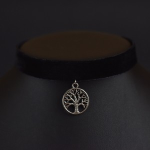 Фото Бархотка с деревом жизни под серебро