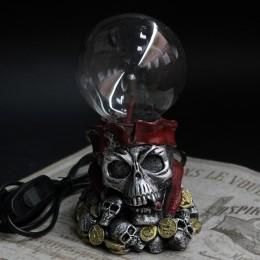 Фото Плазма-шар Череп пират и клад. Сгорел на работе