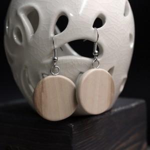 Фото Серьги деревянные круглые