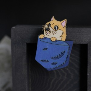 Фото Брошка Собачка в кармане