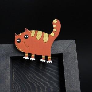 Фото Брошка Рыжий кот полосатый