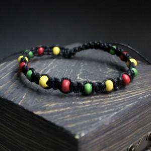 Фото браслет шамбала с разноцветными бусинками