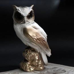 Фото Статуэтка Сова бело-золотая