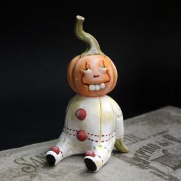 Фото тыква в клоунском наряде