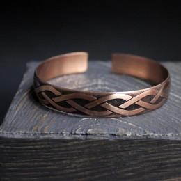 Фото Браслет незамкнутое кольцо медный Волны