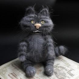 Фото Игрушка вязаная Чеширский кот