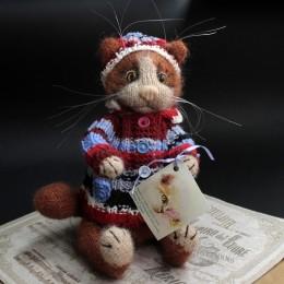 Фото Игрушка вязаная Рыжий кот