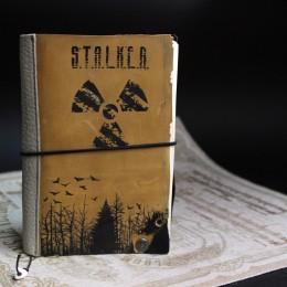 Фото Блокнот с кожаной обложкой Сталкер