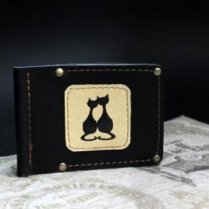 фото Зажим для денег Коты пара