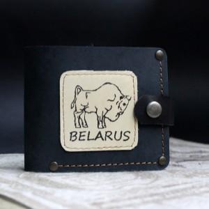 Фото Кошелёк синий Зубр Belarus