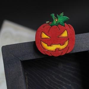 Брошка Злобная Тыква Хэллоуин картинка