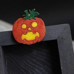 Брошка Удивлённая Тыква Хэллоуин картинка