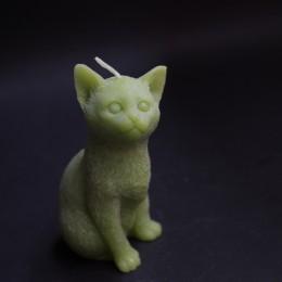 Фото Свеча Котёнок (зелёный)