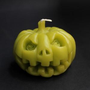 Фото Свеча Тыква Хэллоуин (бледно-зелёная)