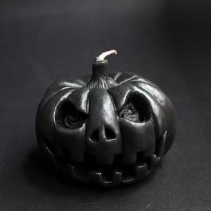 Фото Свеча Тыква Хэллоуин (чёрная)