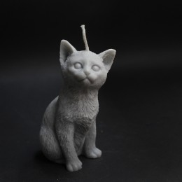 Фото Свеча Котёнок (серый)