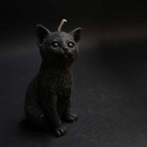 Фото Свеча Котёнок (чёрный)