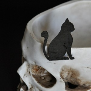 Брошка Чёрный кот фото