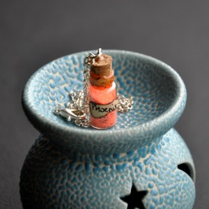 Фото Кулон-бутылочка Пепел феникса